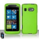 Hard Plastic Rubber Feel Cover Case for HTC Surround - Neon Green