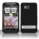 Hard Plastic Rubber Feel Cover Case for HTC Thunderbolt 4G (Verizon) - Black