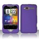 Hard Plastic Rubber Feel Cover Case for HTC Wildfire 6225 - Purple