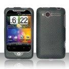 Hard Plastic Rubber Feel Design Case for HTC Wildfire 6225 - Carbon Fiber