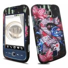 Hard Plastic Rubber Feel Design Case for Huawei Ascend M860 - Koi Fish