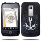 Hard Plastic Rubber Feel Design Case for Huawei Ascend M860 -  Abstract Tattoo