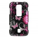 Hard Plastic Design Case for Huawei Ascend M860 - Pink Butterfly