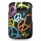 Hard Plastic Rubber Feel Design Case for Kyocera Torino S2300 - Rainbow Peace Sign