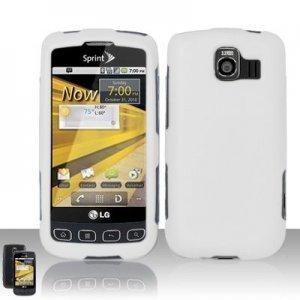 Hard Plastic Rubber Feel Case for LG Optimus S - White