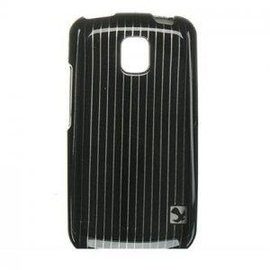 Hard Plastic Design Case for LG Optimus T - Black Lines