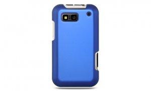 Hard Plastic Rubber Feel Case for Motorola Defy MB525 - Blue