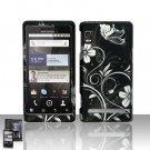 Hard Plastic Rubber Feel Design Case for Motorola Droid 2 A955 - Midnight Garden