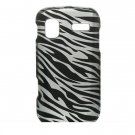 Hard Plastic Design Cover Case for Samsung Focus i917 - Silver and Black Zebra
