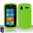 Soft Silicone Skin Cover Case for Samsung Focus i917 - Neon Green
