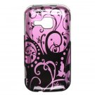 Hard Plastic Design Cover Case for Samsung Galaxy Indulge R910 - Purple Swirls