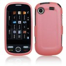 Hard Plastic Rubber Feel Case for Samsung Messager Touch R630 - Pink