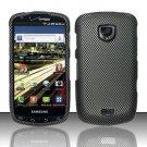 Hard Plastic Rubber Feel Design Case for Samsung Droid Charge i510/i520 - Carbon Fiber