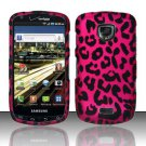 Hard Plastic Rubber Feel Design Case for Samsung Droid Charge i510/i520 - Hot Pink Leopard