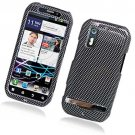 Hard Plastic Rubber Feel Design Case for Motorola Photon 4G - Carbon Fiber