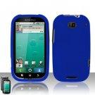 Hard Plastic Rubber Feel Case for Motorola Bravo MB520 - Blue