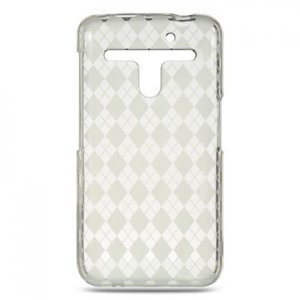 Crystal Gel Check Design Skin Case for LG Revolution 4G VS910 - Clear