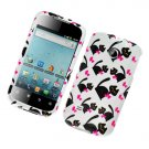 Hard Plastic Glossy Design Case for Huawei Ascend II M865 - Bow Tie Cats