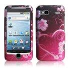 Hard Plastic Rubber Feel Design Case for HTC G2 - Lovely Heart