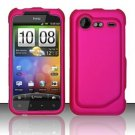 Hard Plastic Rubber Feel Case for HTC Incredible 2 6350 - Rose Pink