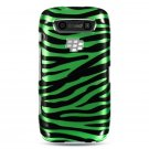 Hard Plastic Design Case for Blackberry Torch 9850/9860 - Green Zebra