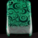 Hard Plastic Crescent Design Back Cover Case for Blackberry Curve 8520 - Green