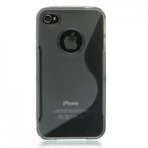 Crystal Gel Skin Case Mixed Style for Apple iPhone 4/4S - Smoke