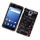 Hard Plastic Glossy Design Case for Samsung Infuse 4G i997 - I Love You