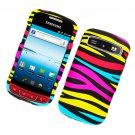 Hard Plastic Rubber Feel Design Case for Samsung Admire R720 - Abstract Zebra