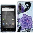 Hard Plastic Design Case for Motorola Droid 3 - Violet Lily