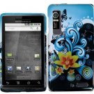 Hard Plastic Design Case for Motorola Droid 3 - Multi Colors Lily and Butterfly