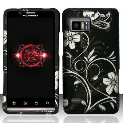 Hard Plastic Rubber Feel Design Case for Motorola Droid Bionic Targa XT875 - Midnight Garden