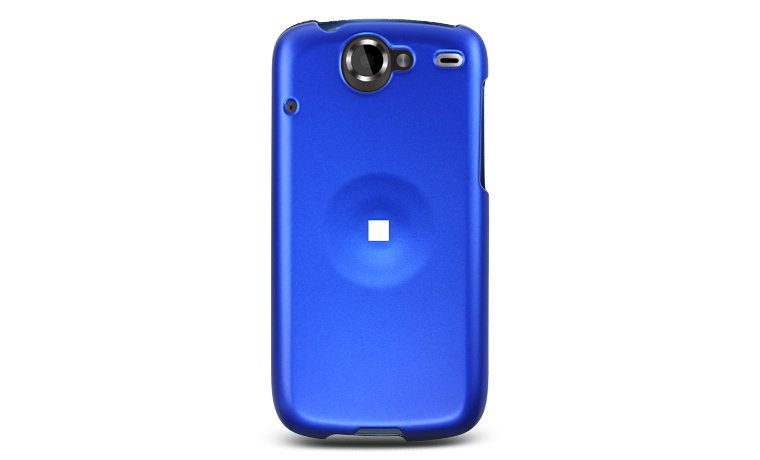 Hard Plastic Rubber Feel Case for HTC Google Nexus One - Blue
