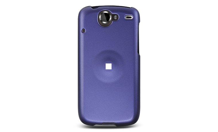 Hard Plastic Rubber Feel Case for HTC Google Nexus One - Purple
