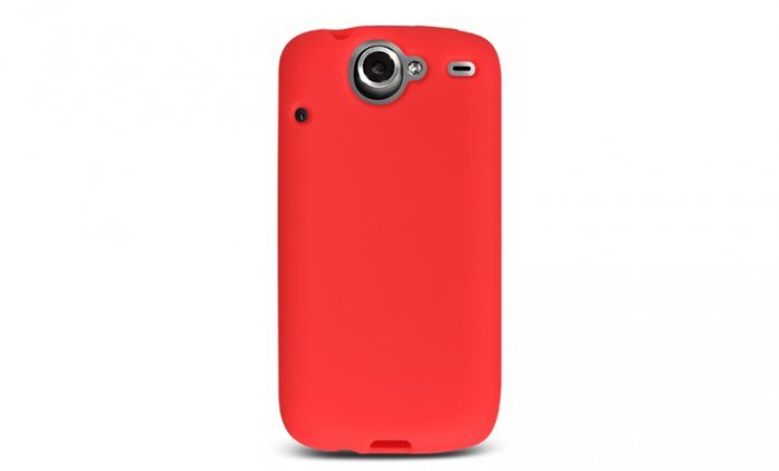 Soft Silicone Skin Cover Case for HTC Google Nexus One - Red
