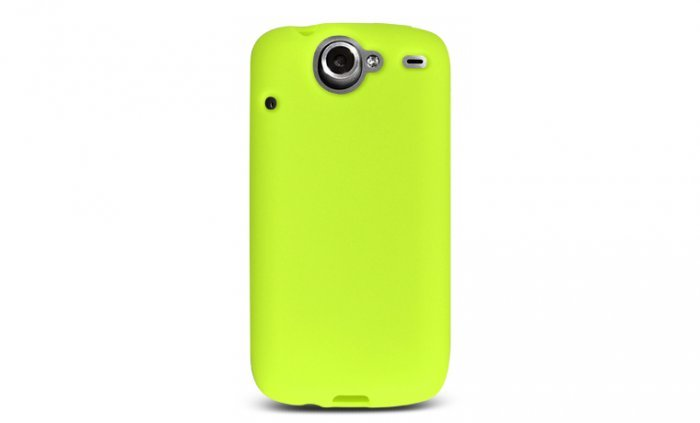 Soft Silicone Skin Cover Case for HTC Google Nexus One - Green