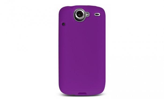 Soft Silicone Skin Cover Case for HTC Google Nexus One - Purple