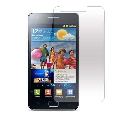 3-Pack Clear Screen Protectors for Samsung Galaxy S II Epic 4G Touch