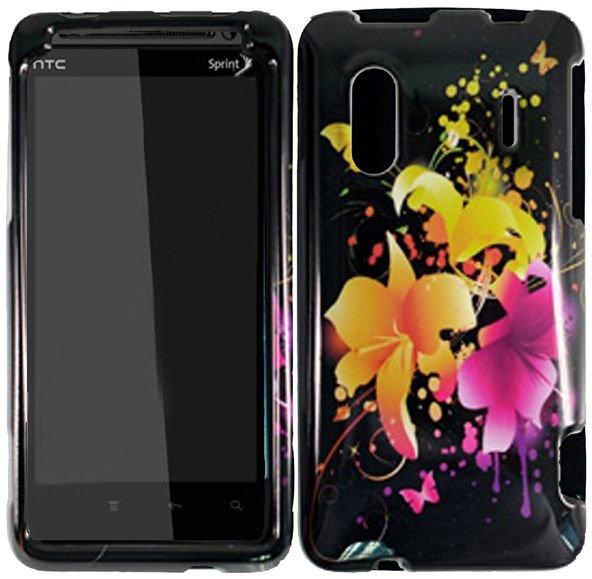 Hard Plastic Design Cover Case for HTC Evo Design 4G/Kingdom - Heavenly Flowers