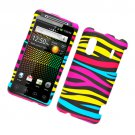Hard Plastic Rubber Feel Design Case for HTC Evo Design 4G/Kingdom - Abstract Zebra