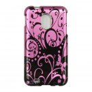 Hard Plastic Design Case for Samsung Galaxy S II Epic 4G Touch - Black and Purple Swirls