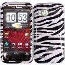 Hard Plastic Design Cover Case for HTC Rezound 6425 - Black and White Zebra