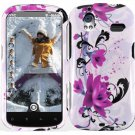 Hard Plastic Design Cover Case for HTC Amaze 4G/Ruby - Purple Lily