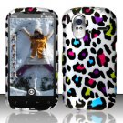 Hard Plastic Rubber Feel Design Case for HTC Amaze 4G/Ruby - Rainbow Leopard