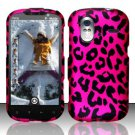 Hard Plastic Rubber Feel Design Case for HTC Amaze 4G/Ruby - Hot Pink Leopard