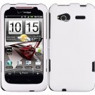 Hard Plastic Rubber Feel Cover Case for HTC Radar 4G - White