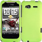Hard Plastic Rubber Feel Cover Case for HTC Radar 4G - Neon Green