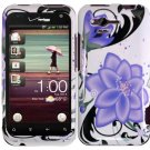 Hard Plastic Design Cover Case for HTC Rhyme/Bliss 6330 - Violet Lily