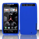 Soft Silicone Skin Cover Case for Motorola Droid RAZR XT912 - Blue