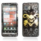 Hard Plastic Design Case for Motorola Droid Bionic Targa XT875 - Yellow Skulls